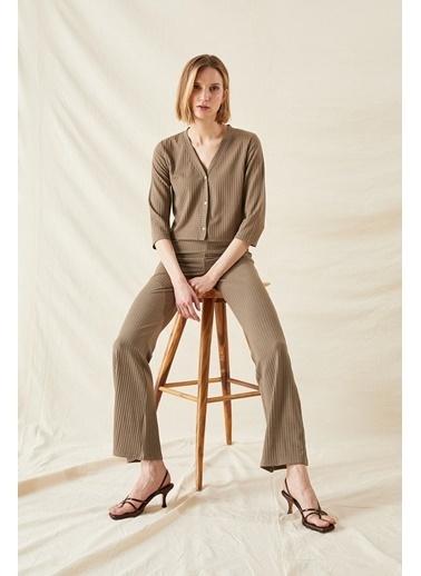 DeFacto Slim Long Fit Pantolon Yeşil